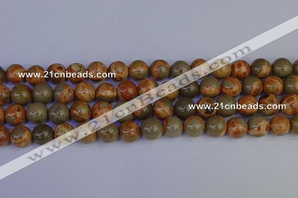 CPJ465 15.5 inches 14mm round African picture jasper beads