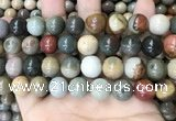 CPJ485 15.5 inches 14mm round polychrome jasper beads wholesale