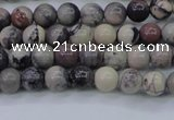CPJ600 15.5 inches 4mm round purple striped jasper beads wholesale