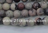 CPJ601 15.5 inches 6mm round purple striped jasper beads wholesale
