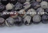 CPJ602 15.5 inches 8mm round purple striped jasper beads wholesale