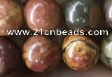CPJ635 15.5 inches 8mm round picasso jasper beads wholesale