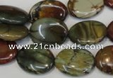 CPJ85 15.5 inches 15*20mm oval picasso jasper gemstone beads