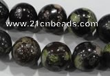 CPM05 15.5 inches 14mm round plum blossom jade beads wholesale