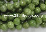 CPO02 15.5 inches 8mm round olivine gemstone beads wholesale