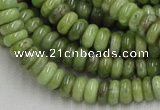 CPO06 15.5 inches 4*10mm rondelle olivine gemstone beads wholesale
