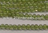 CPO100 15 inches 2mm round natural peridot beads wholesale