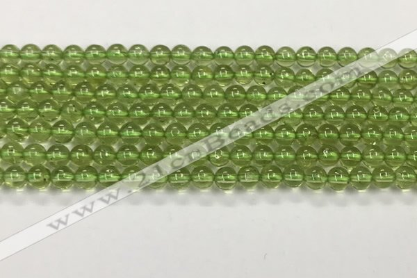 CPO133 15.5 inches 4mm round natural peridot beads wholesale