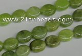 CPO32 15.5 inches 8*10mm oval olivine gemstone beads wholesale