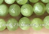 CPO44 15.5 inches 6mm round natural olivine gemstone beads