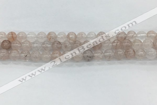 CPQ251 15.5 inches 6mm round natural pink quartz beads wholesale