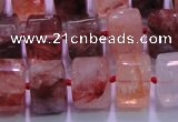 CPQ42 15.5 inches 11*15*15mm faceted triangle pink quartz beads