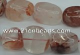 CPQ67 15.5 inches 10*14mm – 16*22mm nuggets natural pink quartz beads