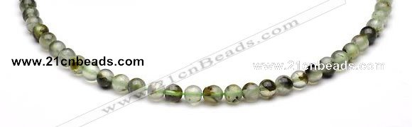 CPR01 AB grade 6mm round natural prehnite stone beads Wholesale
