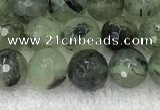 CPR405 15.5 inches 6mm faceted round prehnite beads wholesale