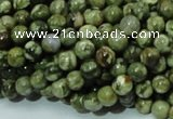 CPS04 15.5 inches 6mm round green peacock stone beads wholesale