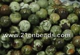 CPS111 15.5 inches 10mm round green peacock stone beads wholesale