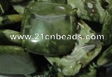 CPS22 15.5 inches 20*20mm rhombic green peacock stone beads wholesale