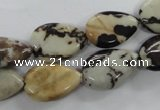 CPT04 15.5 inches 13*18mm flat teardrop zebra picture jasper beads