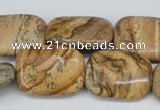 CPT261 15.5 inches 18*25mm rectangle picture jasper beads wholesale