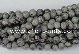 CPT351 15.5 inches 4mm round grey picture jasper beads wholesale