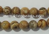 CPT453 15.5 inches 10mm round picture jasper beads wholesale