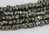 CPY01 16 inches 6mm nugget pyrite gemstone chip beads wholesale
