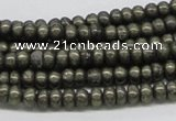 CPY08 16 inches 3*6mm rondelle pyrite gemstone beads wholesale