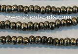 CPY100 15.5 inches 3*4mm rondelle pyrite gemstone beads wholesale