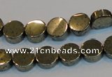 CPY152 15.5 inches 10mm coin pyrite gemstone beads wholesale