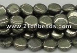 CPY16 16 inches 10mm coin pyrite gemstone beads wholesale
