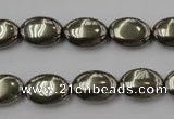 CPY232 15.5 inches 10*14mm oval pyrite gemstone beads wholesale
