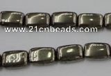 CPY240 15.5 inches 8*12mm rectangle pyrite gemstone beads wholesale