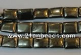 CPY320 15.5 inches 8*10mm rectangle pyrite gemstone beads wholesale