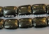 CPY322 15.5 inches 12*16mm rectangle pyrite gemstone beads wholesale