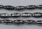 CPY600 15.5 inches 5*16mm rice pyrite gemstone beads wholesale