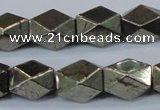 CPY610 15.5 inches 10*15mm nuggets pyrite gemstone beads