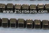 CPY618 15.5 inches 9*10mm pyrite gemstone beads
