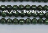 CPY760 15.5 inches 4mm round pyrite gemstone beads wholesale