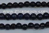 CPY770 15.5 inches 4mm round pyrite gemstone beads wholesale
