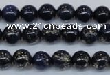 CPY772 15.5 inches 8mm round pyrite gemstone beads wholesale