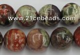 CRA154 15.5 inches 16mm round rainforest agate beads wholesale