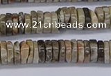 CRB1013 15.5 inches 2*7mm heishi chrysanthemum agate beads