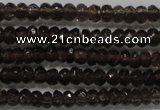 CRB103 15.5 inches 2.5*4mm faceted rondelle smoky quartz beads