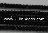 CRB104 15.5 inches 2.5*4mm faceted rondelle black agate beads