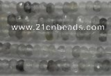 CRB105 15.5 inches 2.5*4mm faceted rondelle cloudy quartz beads