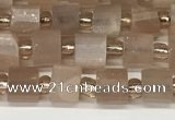 CRB1057 15.5 inches 4*6mm - 5*6mm faceted tyre moonstone beads