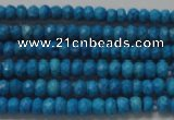 CRB107 15.5 inches 2.5*4mm faceted rondelle dyed turquoise beads