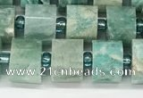 CRB1070 15.5 inches 7*9mm - 8*10mm faceted tyre amazonite beads