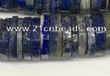 CRB1085 15.5 inches 5*20mm - 6*22mm faceted heishi lapis lazuli beads